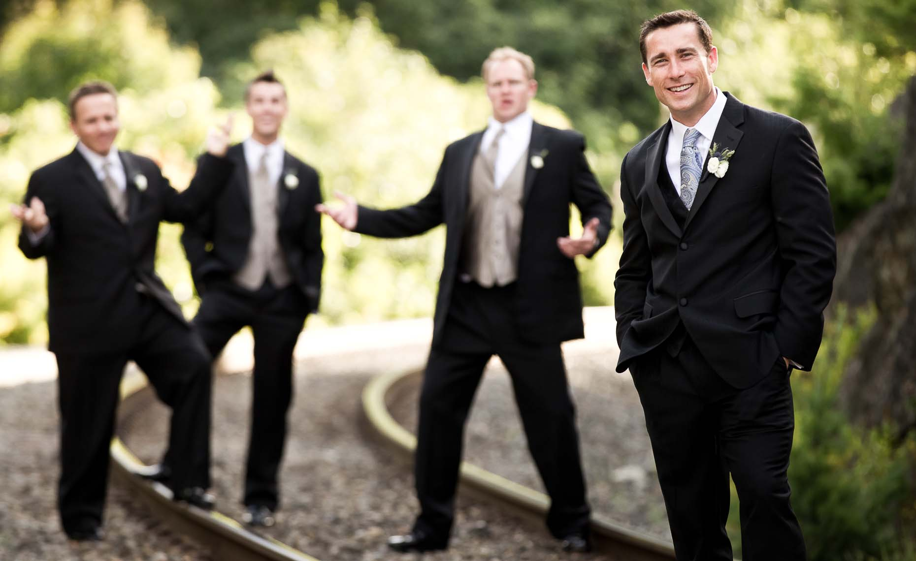 groomsmen wedding portrait from whistler photographer