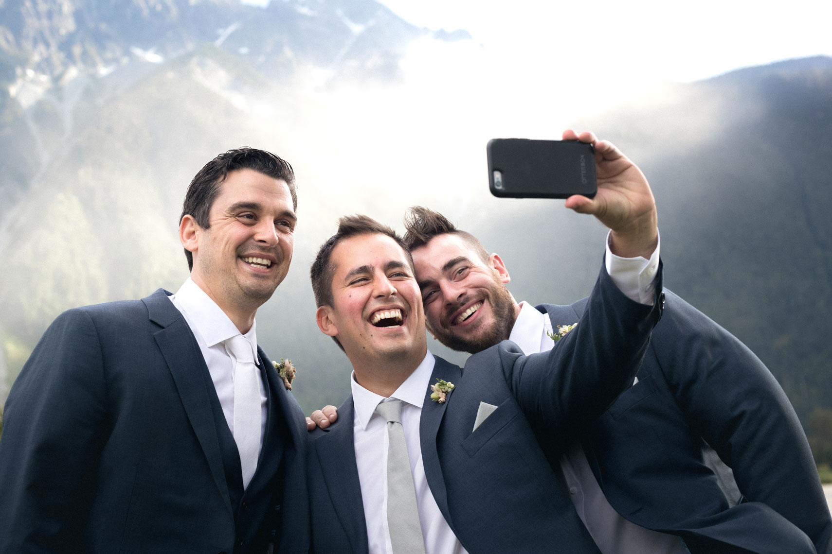 Groomsmen at the big sky golf wedding venue in Pemberton BC