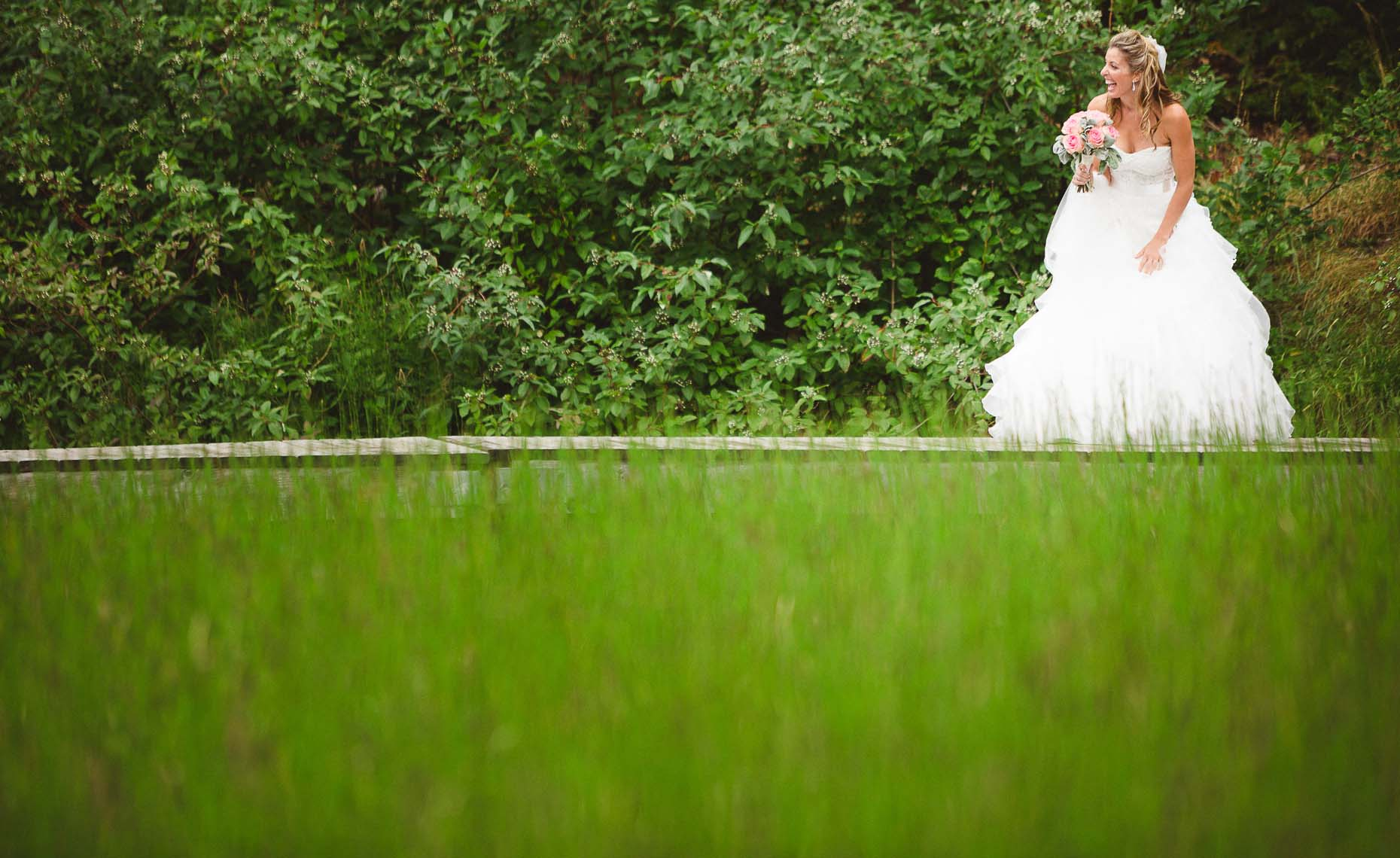 bridal portrait from whistler wedding at nita lake lodge