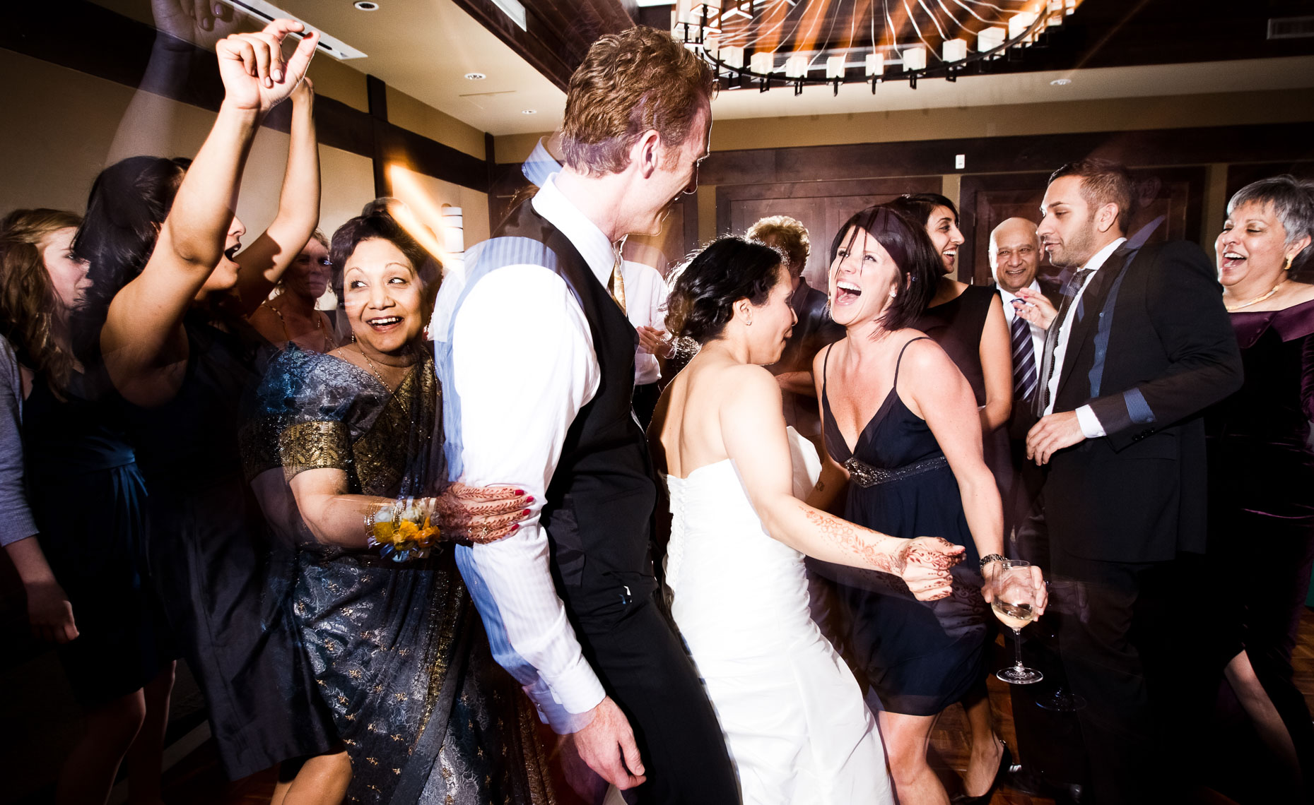 Dance party at a wedding in Whistler, BC