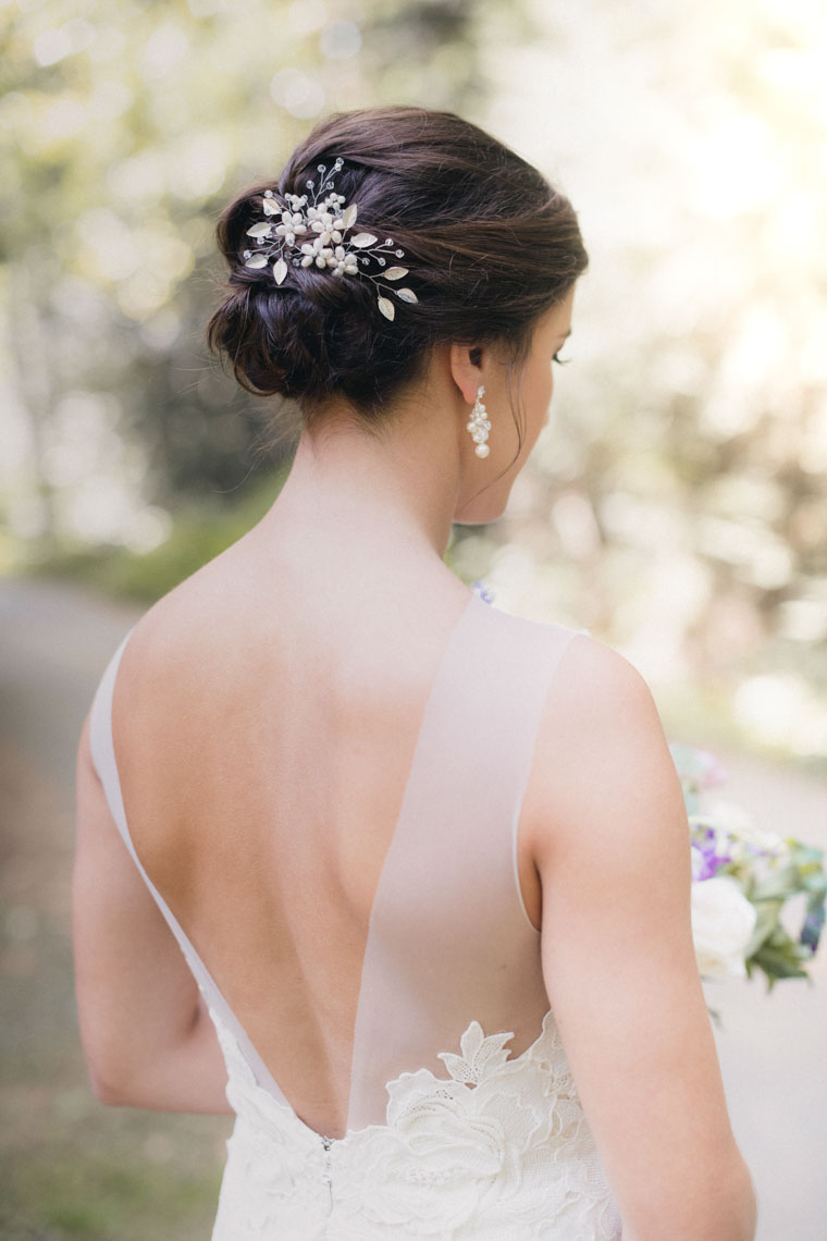 Back of wedding dress by wedding photographer in whistler bc
