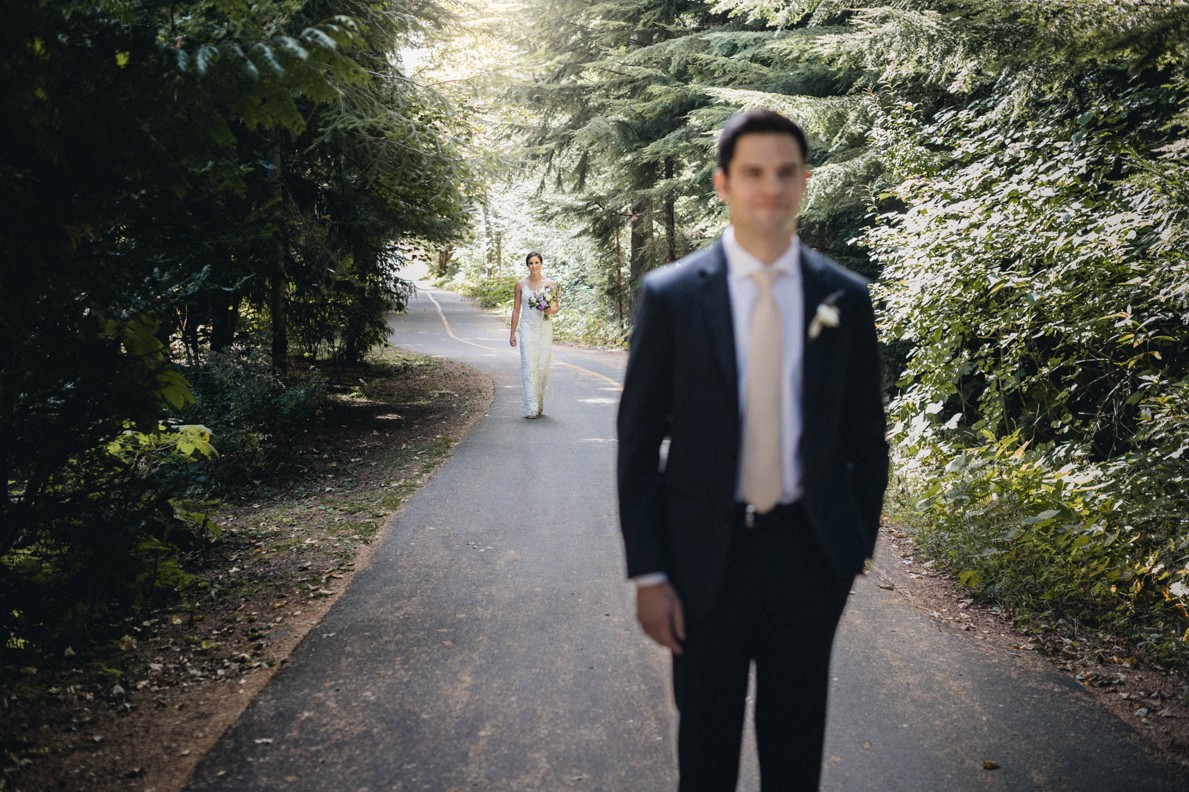 Groom in whistler BC before wedding