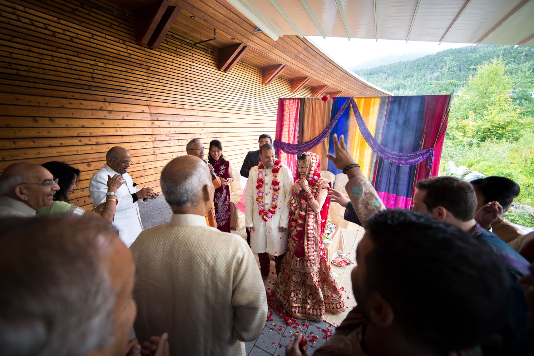 Traditional indian wedding at SLCC venue in Whistler, BC