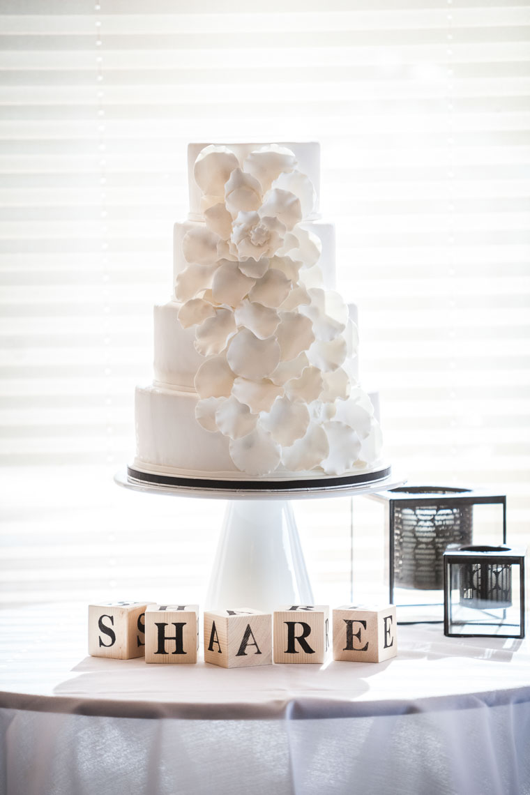 Wedding cake photography at reception venue in Whistler BC