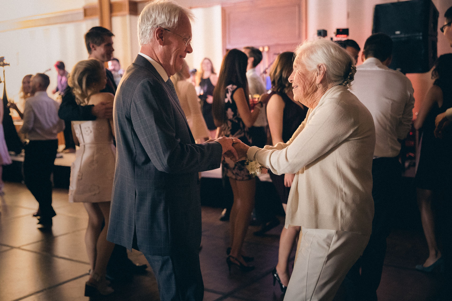 Grandparents on the dance floor during wedding at Whistler venue