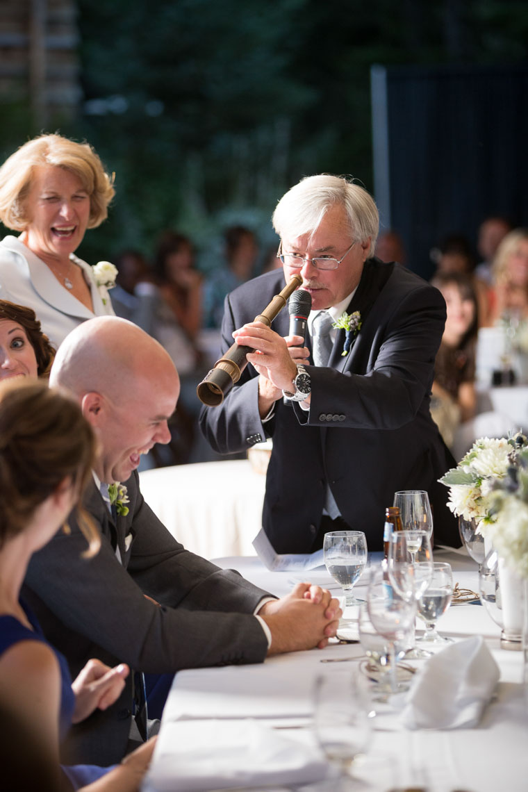 Speech by the father of the bride at the SLCC wedding venue in Whistler