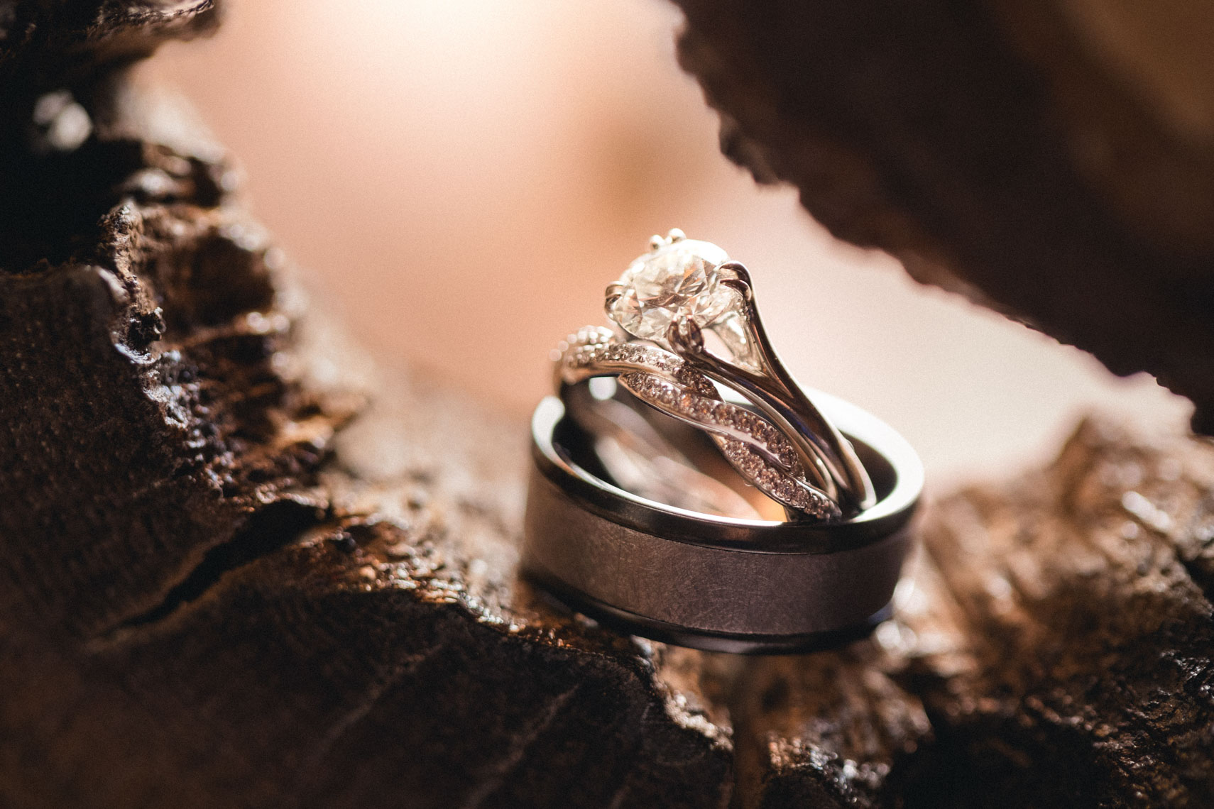 Wedding ring detail shown by whistler blackcomb photographer