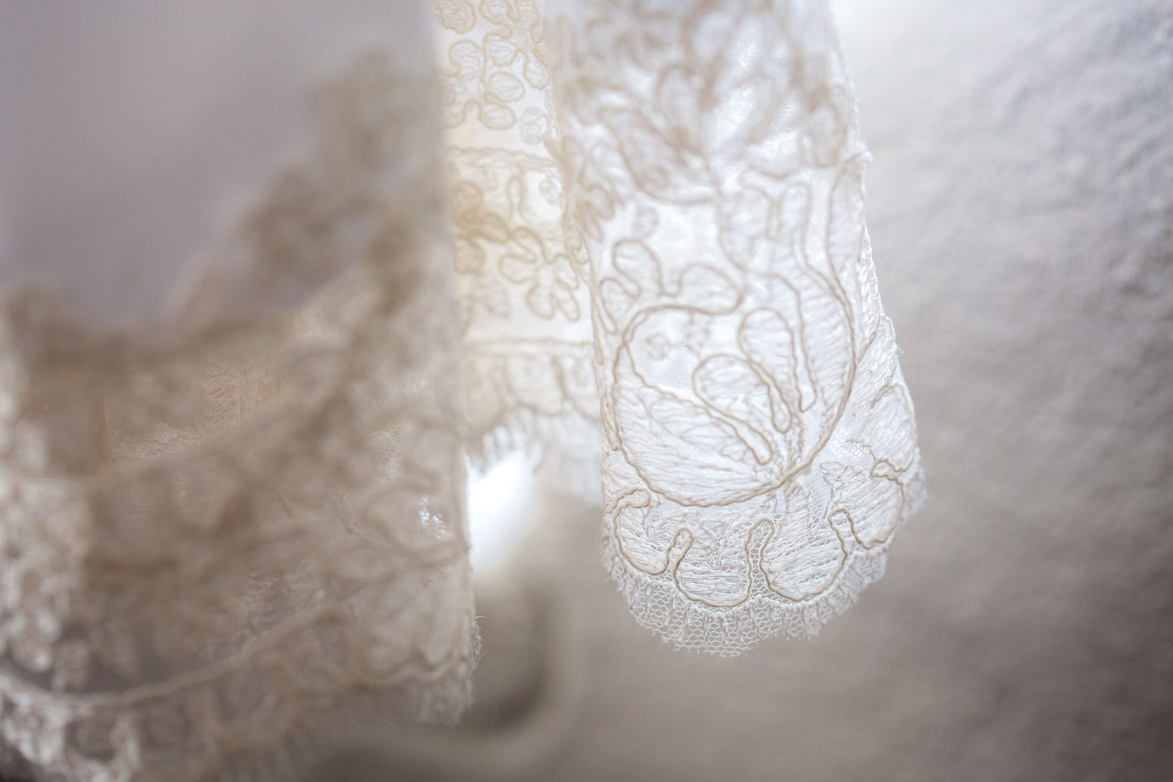 Wedding dress texture closeup detail at wedding destination photography