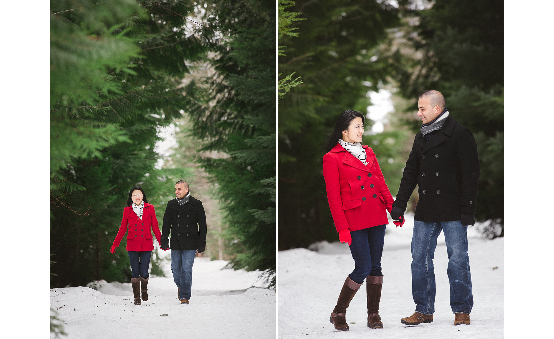 Engagement photography session in whistler BC