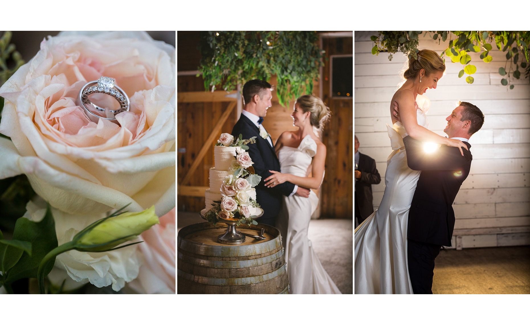 Special moments between bride and groom in vintage barn wedding in pemberton