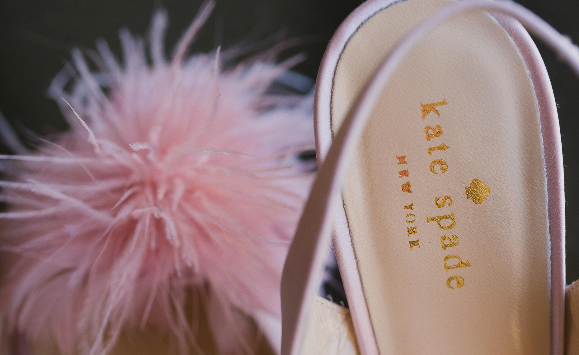 Kate Spade bridal shoe detail from Whistler wedding