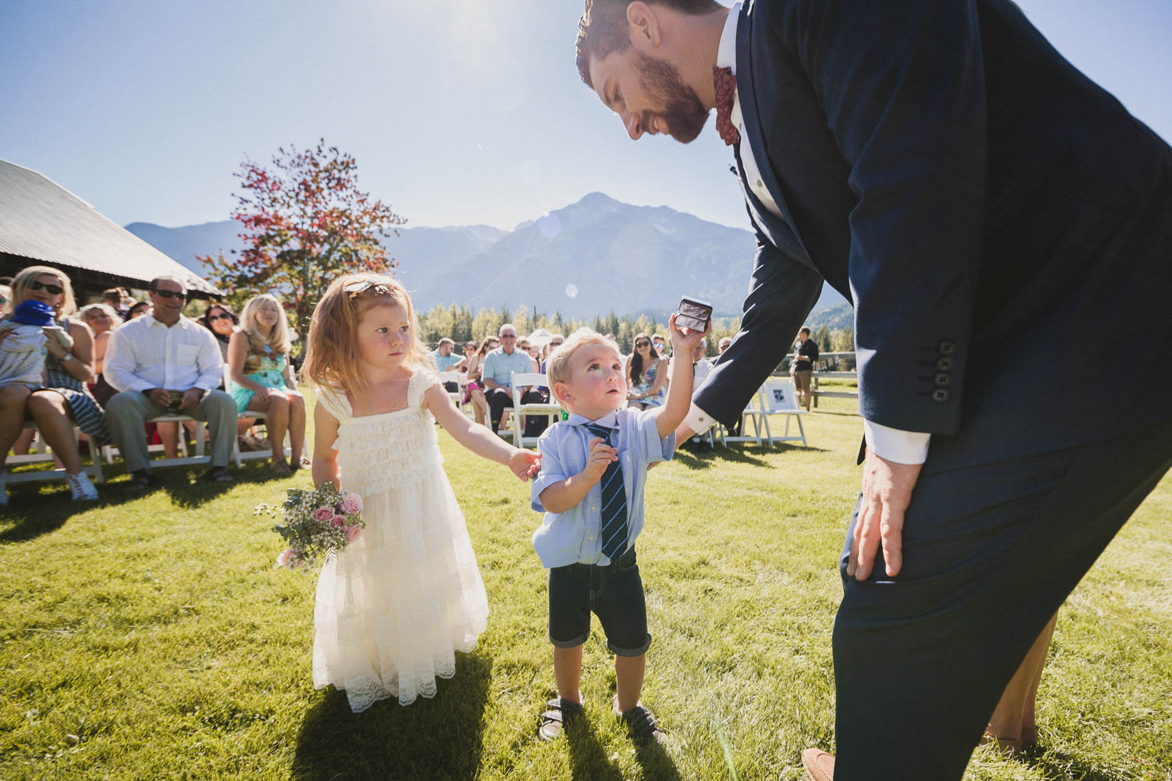 Vintage style outdoor farm wedding in Pemberton