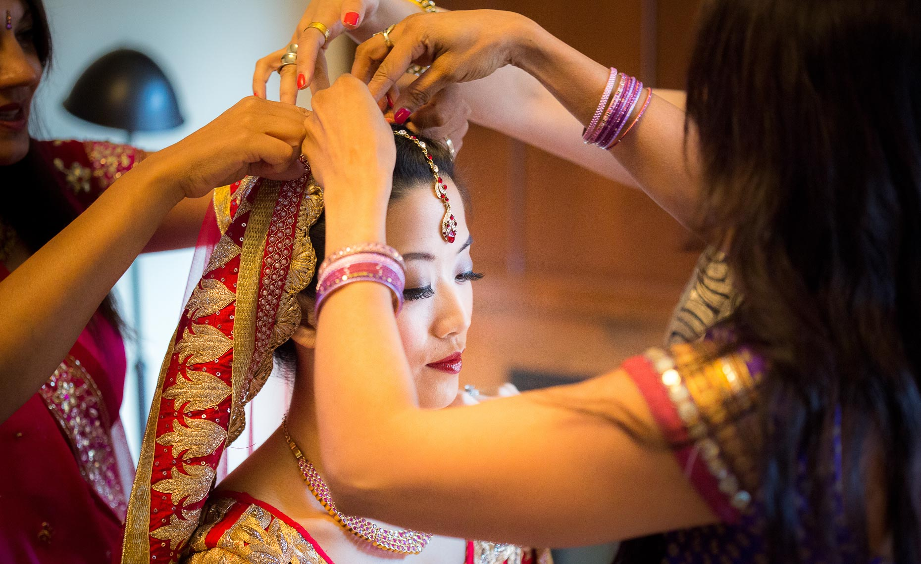 Traditional indian hindu wedding ceremony photographed in Whistler, BC