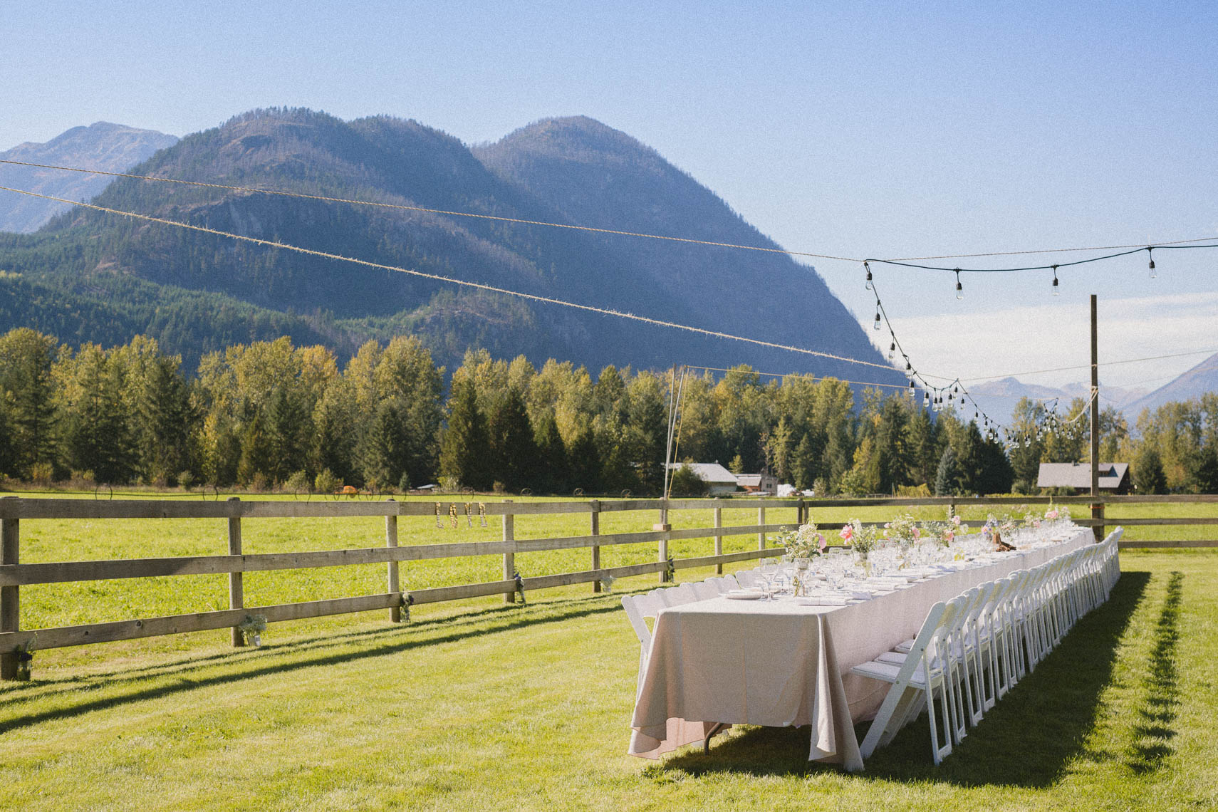 Outdoor farm wedding venue near whistler