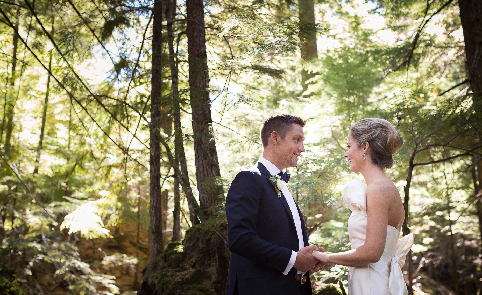 Forest wedding portrait session in Whistler, BC