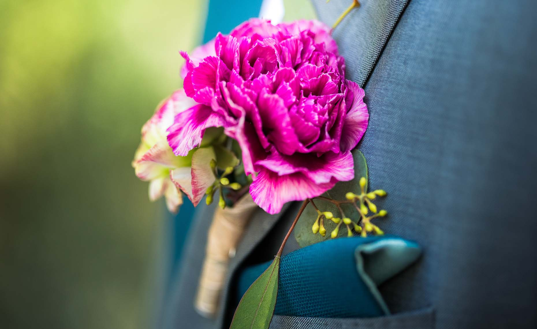 Vintage style boutonniere at whistler wedding.