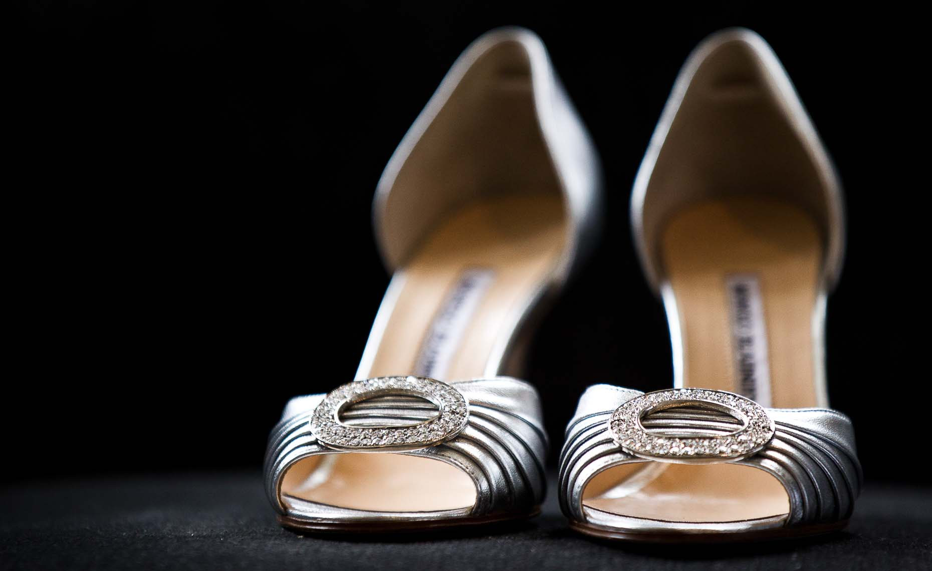 Wedding detail closeup photography of shoes