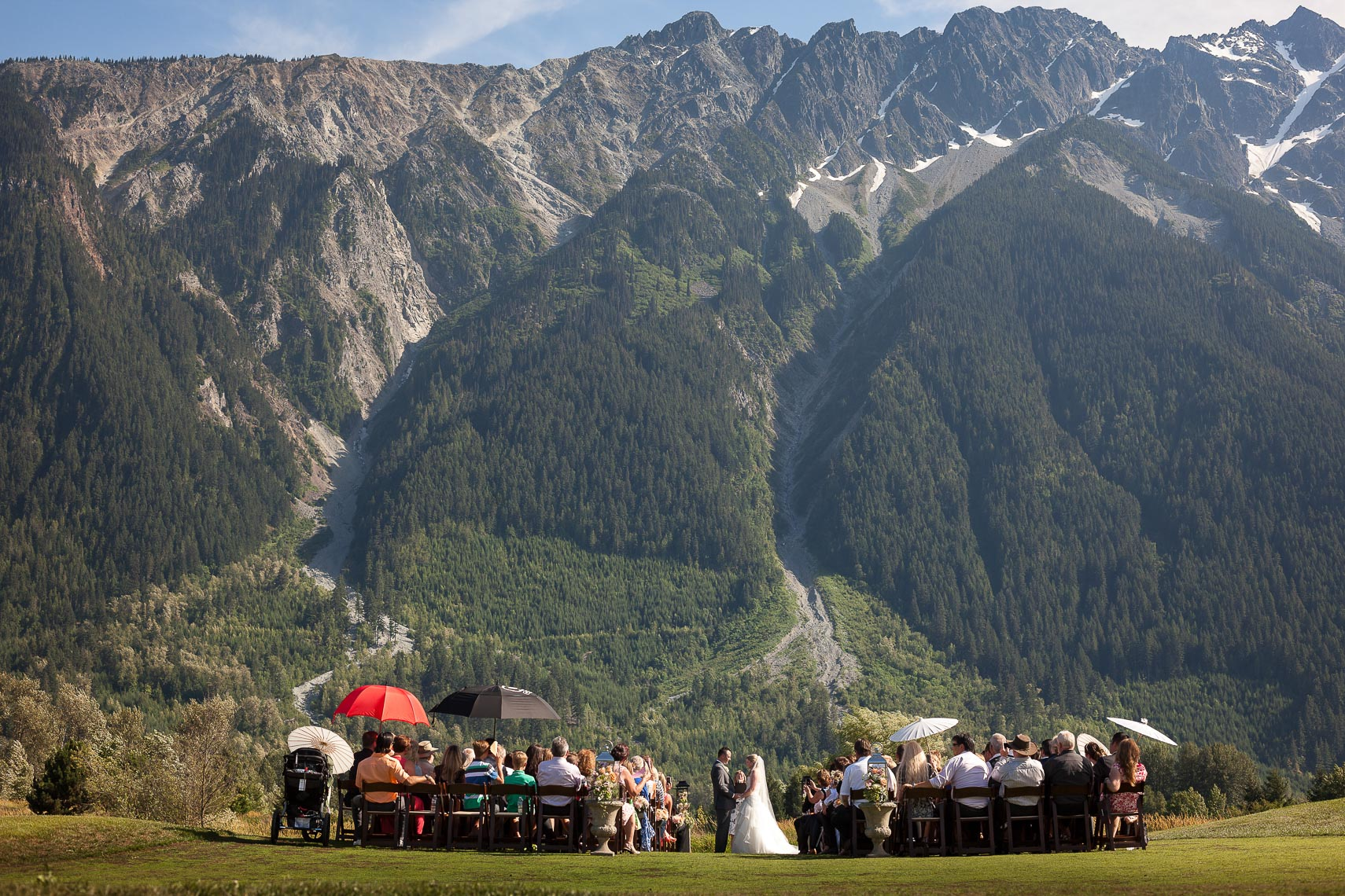 wedding ceremony in pemberton BC mountains