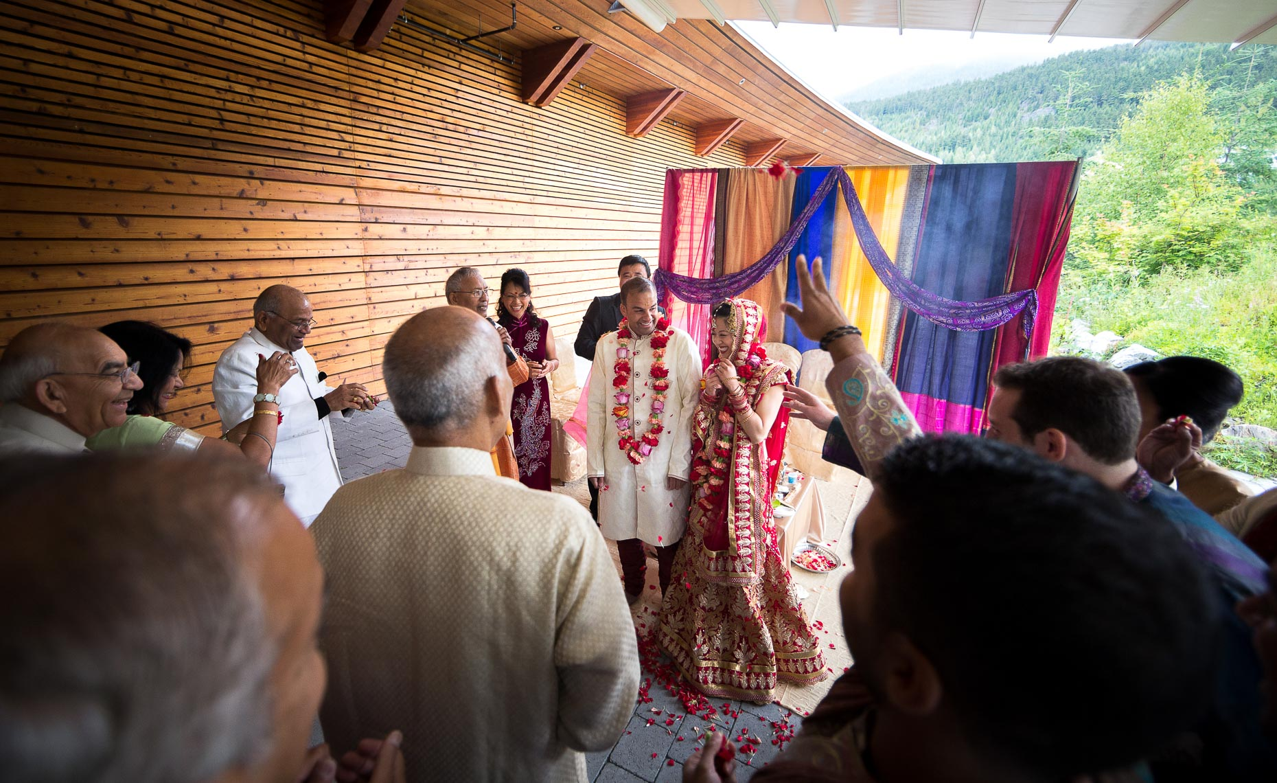 Indian wedding photographer after Saptapadi in Whistler
