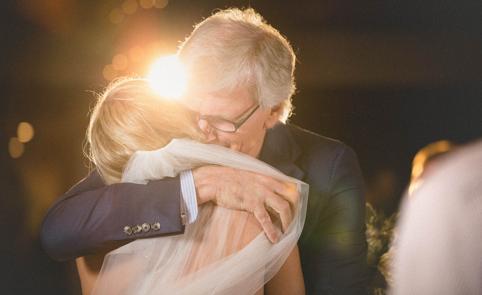 Moment with father of the bride captured by wedding photographer in whistler