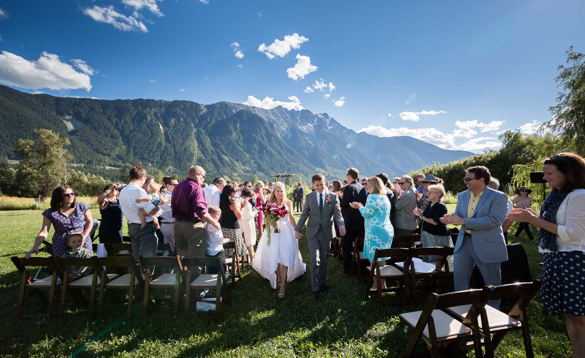 Farm wedding in the mountains of Pemberton BC