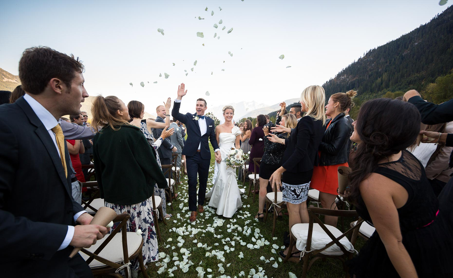 Wedding celebration in pemberton, BC