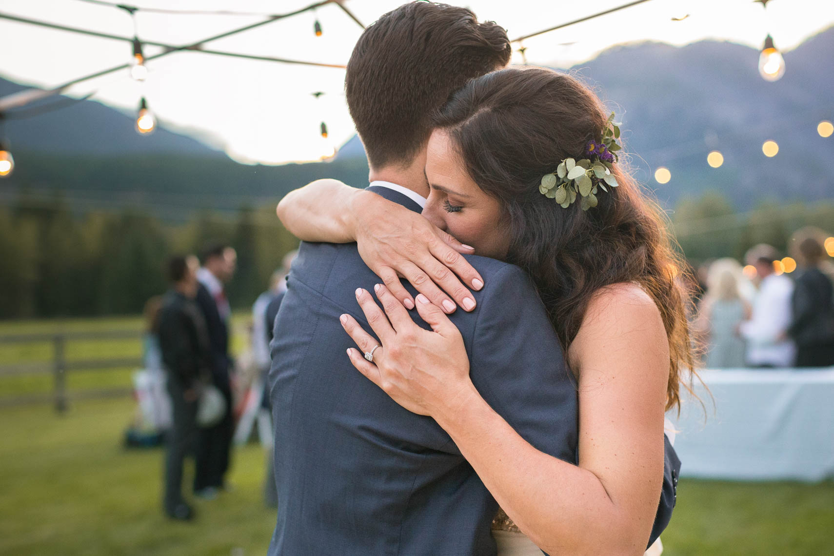Bride and groom first dance captured by whistler wedding photographer