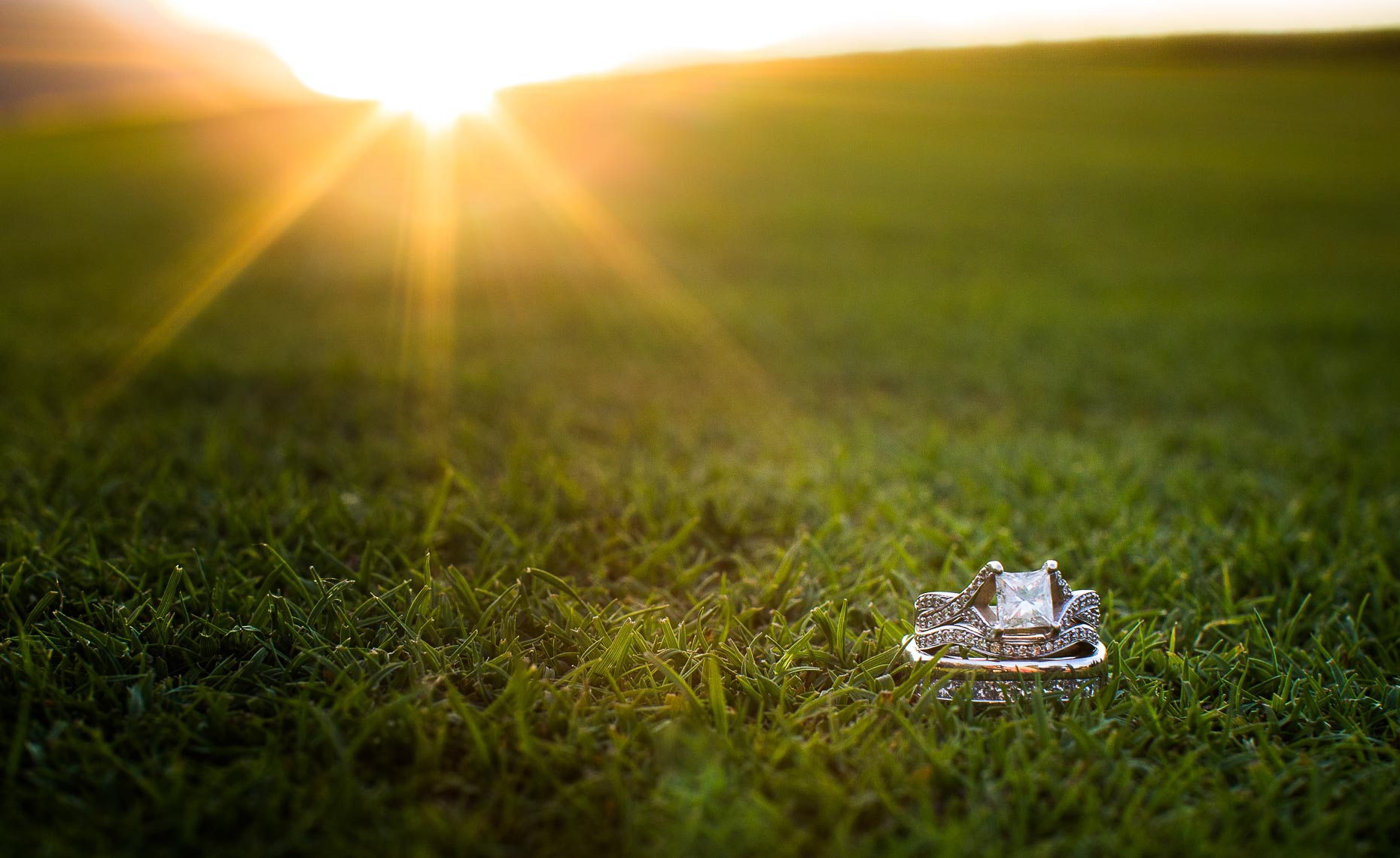 whistler wedding photographer ring shot at sunset