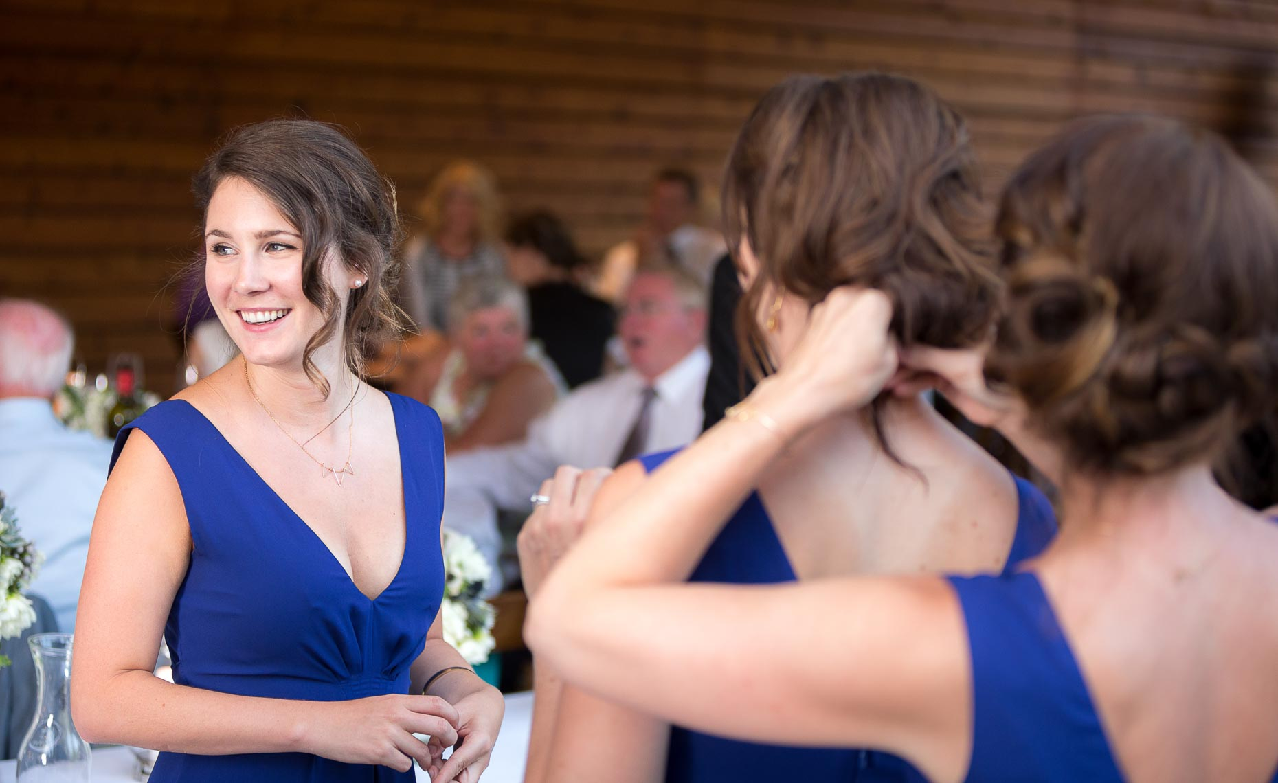 candid bridesmaid portrait by whistler wedding photographer