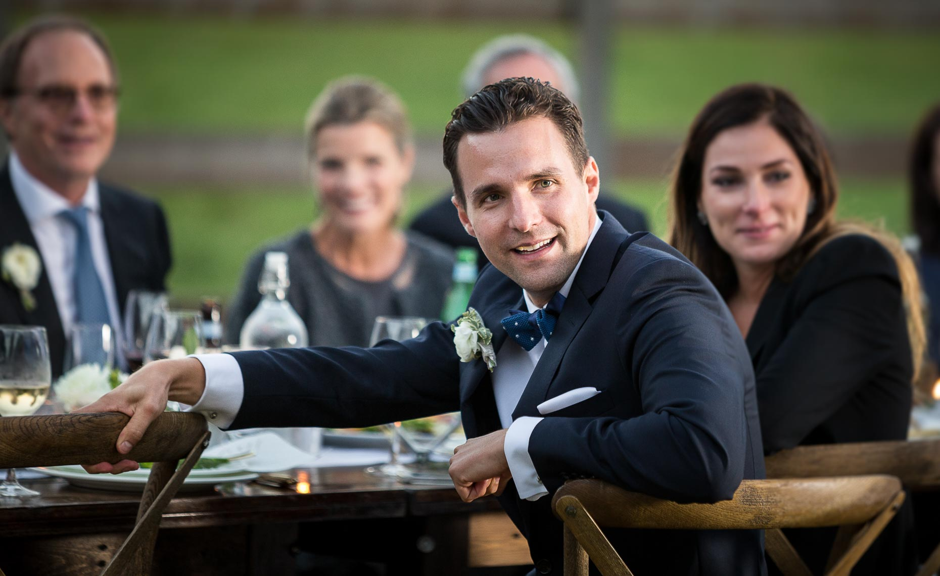 Memorable moments during speeches photographed during whistler wedding reception