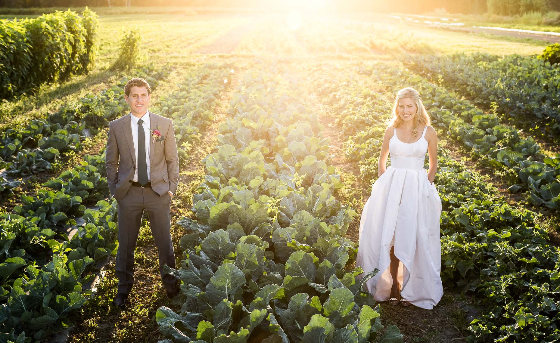 Vintage style organic farm wedding near Whistler.