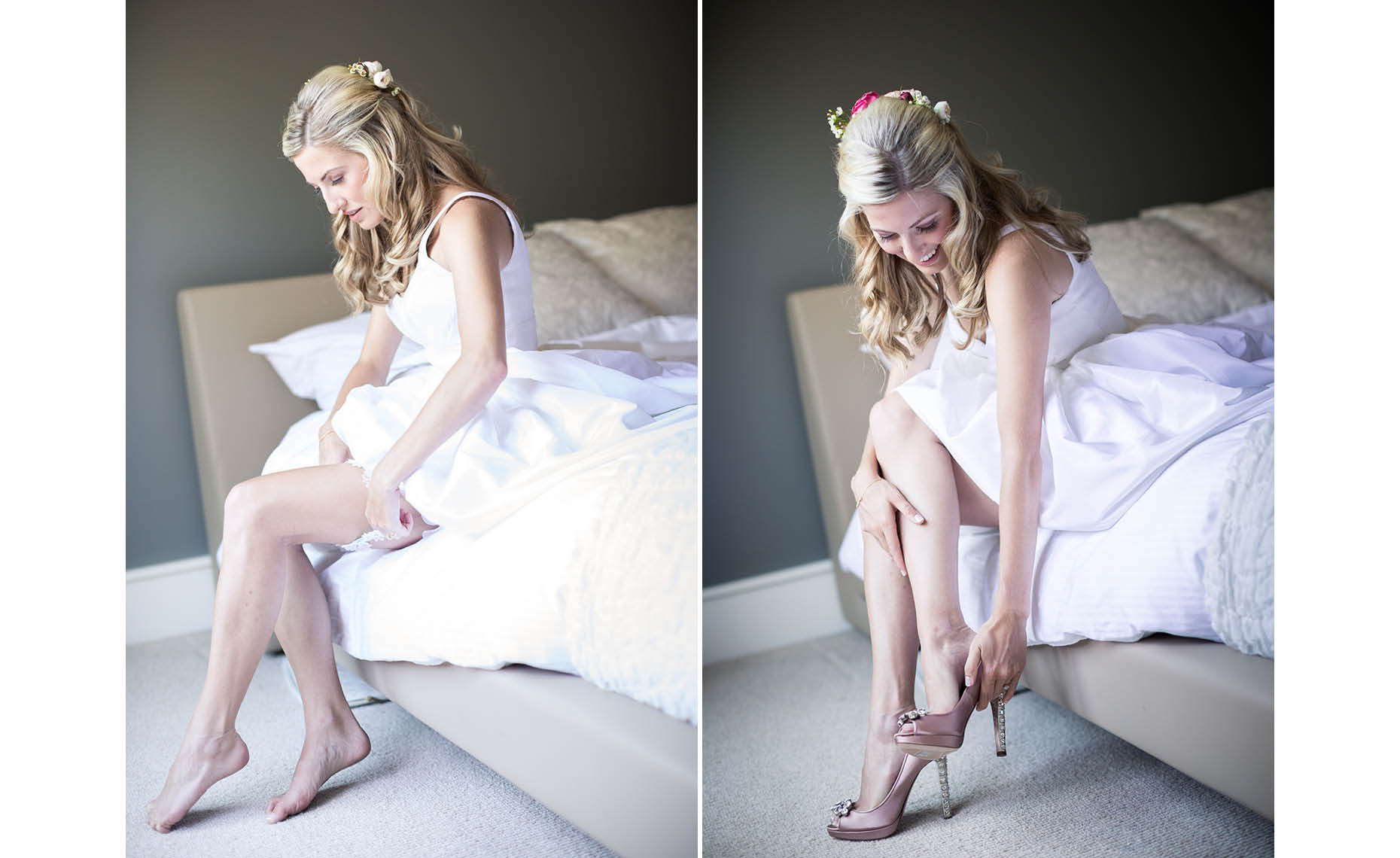 Bride gets ready for whistler wedding