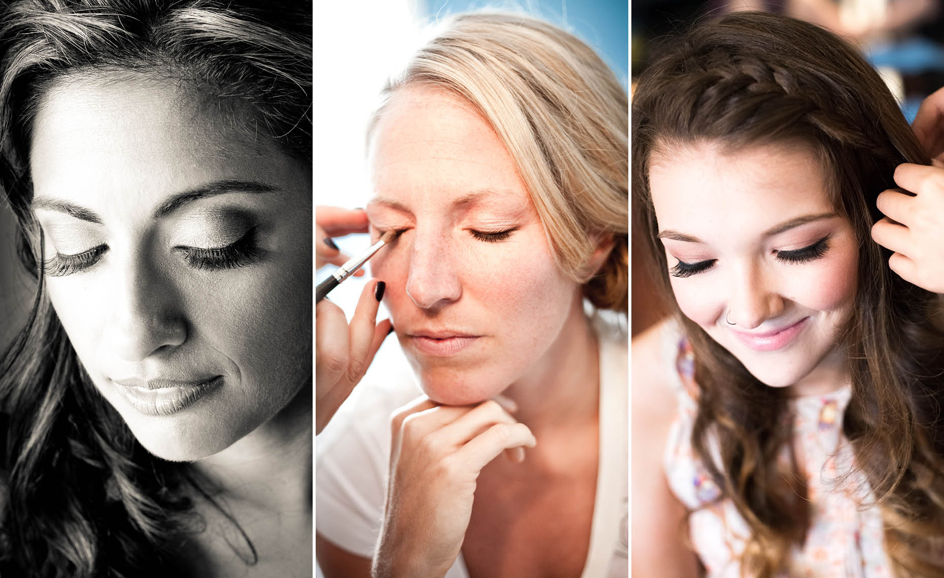 whistler wedding photographer shows brides and bridesmaids getting ready