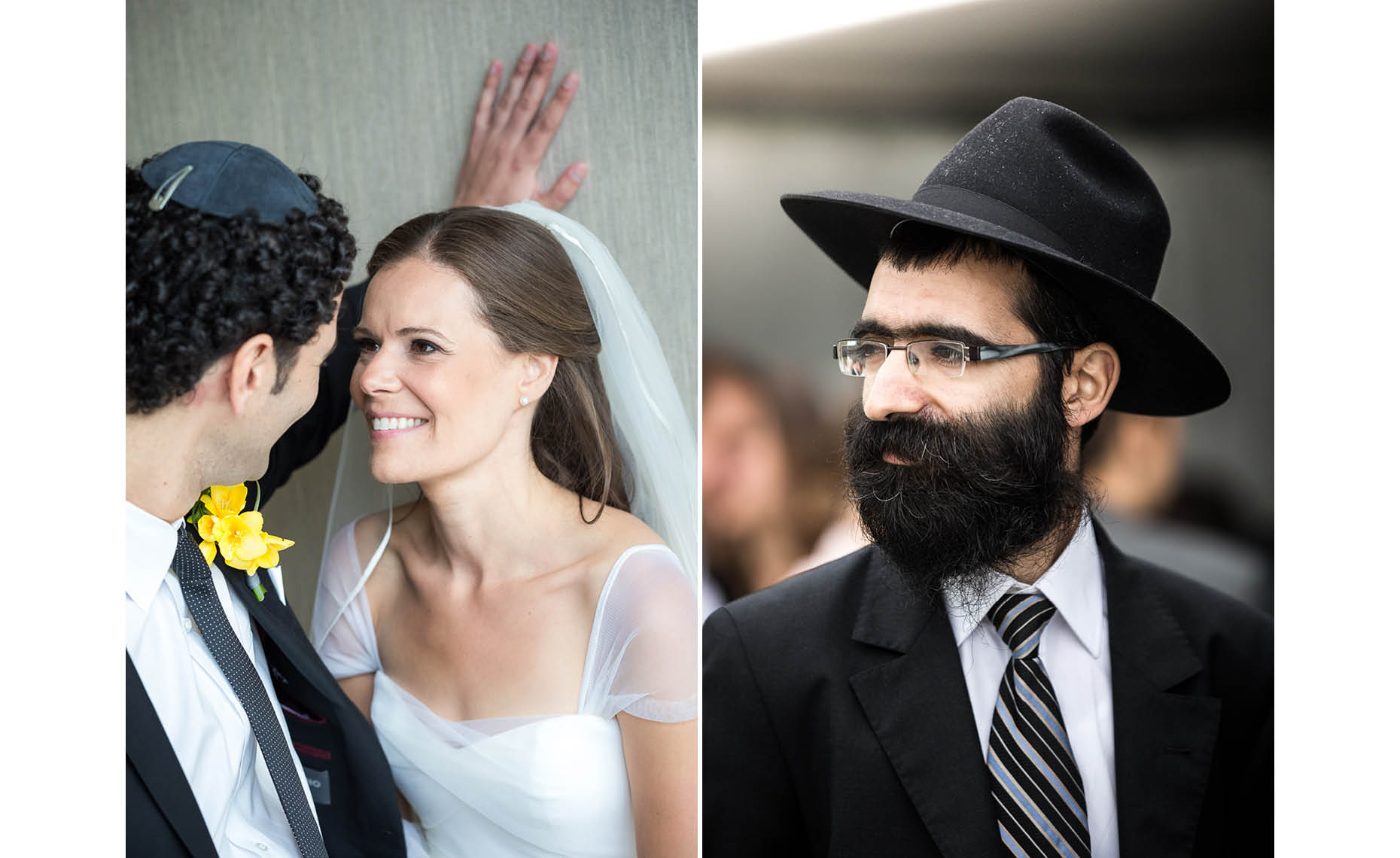 rabbi and jewish wedding couple in whistler