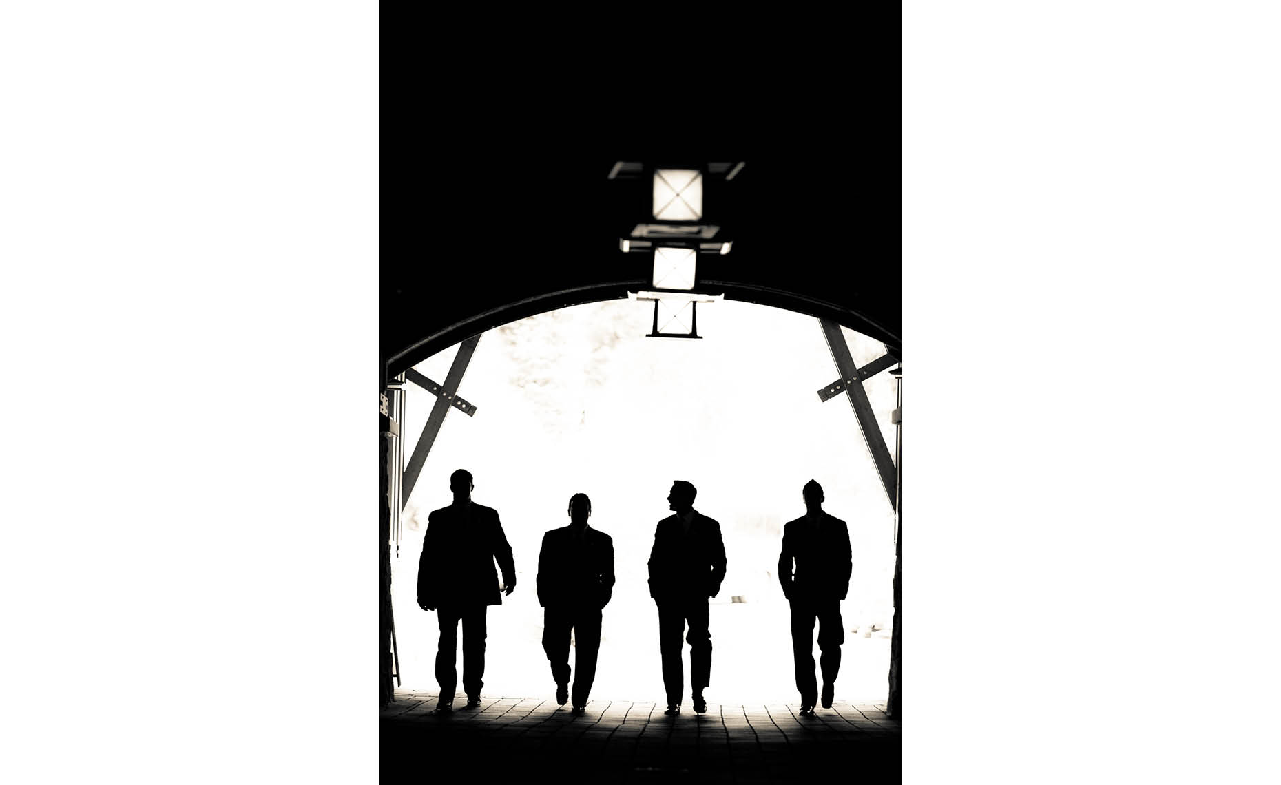 Groomsmen silhouette during Whistler wedding