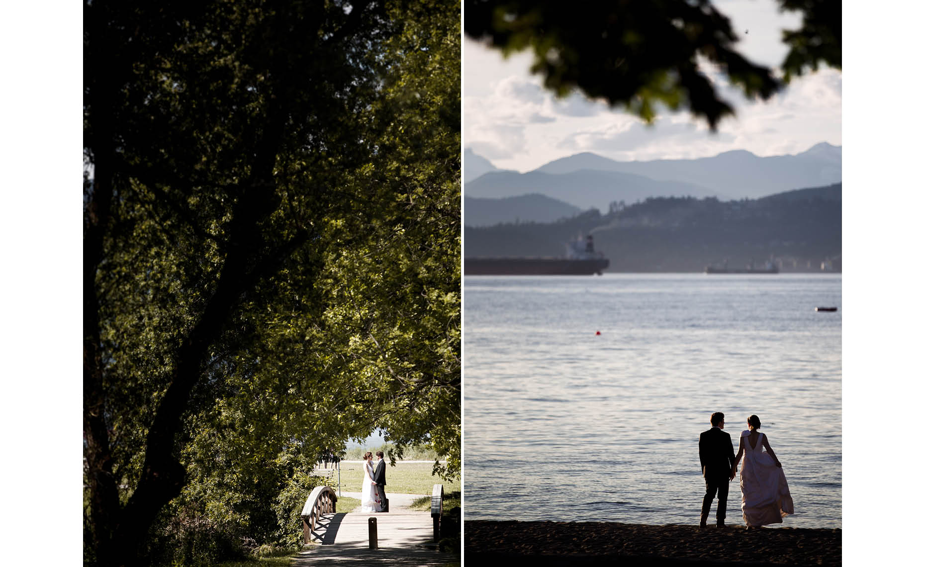 vancouver wedding couple at kitsilano beach